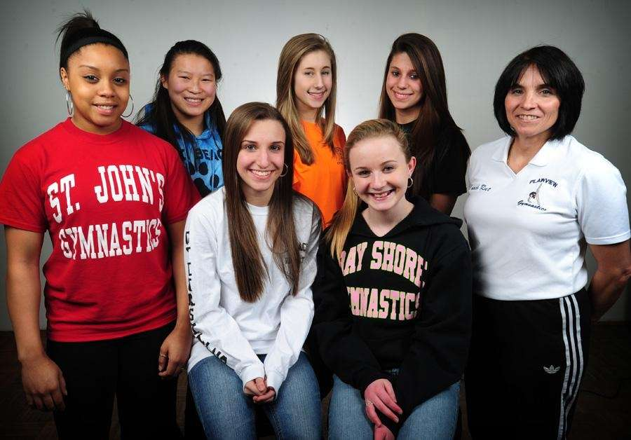 The 2010 All-Long Island girls gymnastics team.