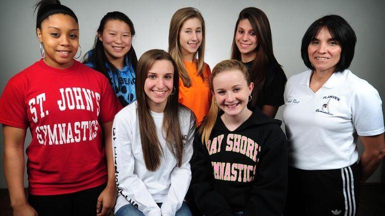 The 2010 All-Long Island girls gymnastics team.