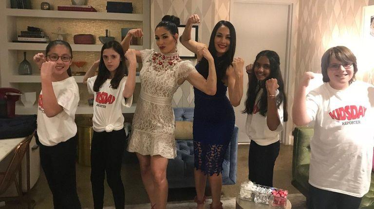 Kidsday reporters Olivia Sang, Sigal Weitzman, Shreya Deochand