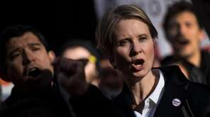 New York gubernatorial candidate Cynthia Nixon at a
