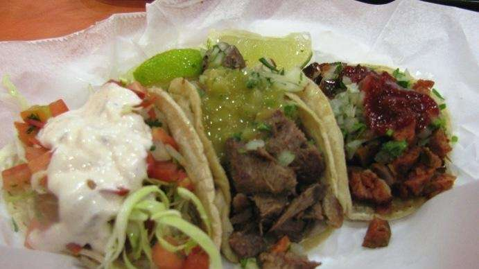 Tacos at Pinata's in Bellmore. Left to right: