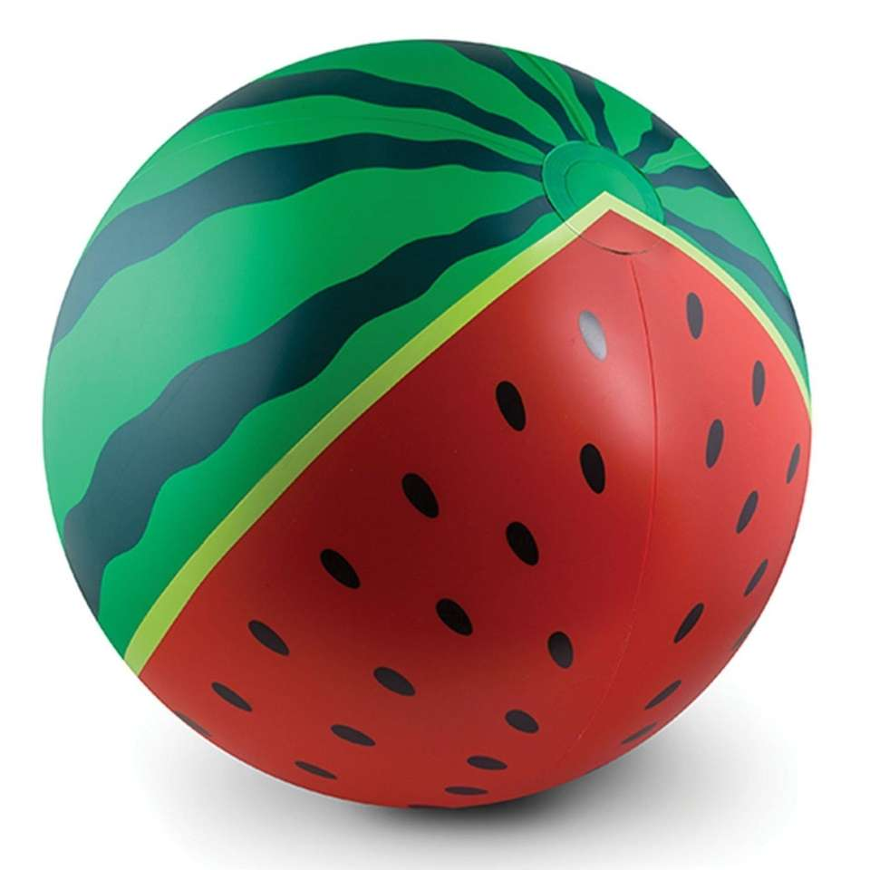 This watermelon-styled inflatable also comes in