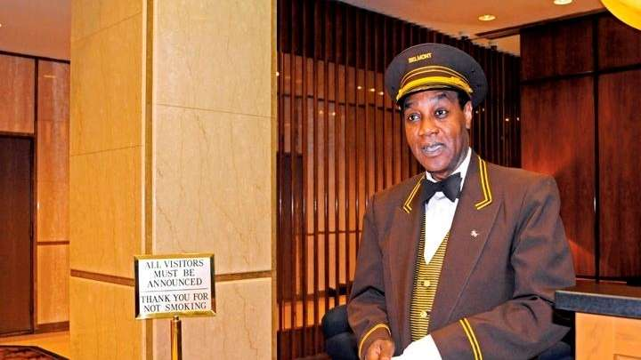 Jack Florentin, 52 years old, doorman @