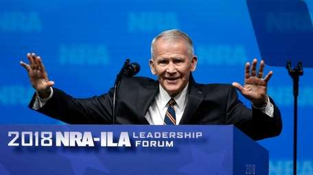 Incoming NRA president Oliver North, in a