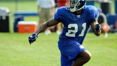 Giants rookie safety Kenny Phillips during training camp