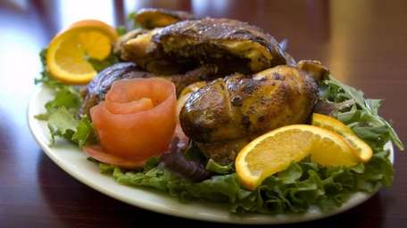 Rotisserie chicken is one of the specialties at
