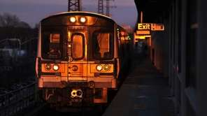 A west-bound LIRR evening commuter train. (March 1,