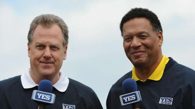 Commentators Michael Kay (left) and Ken Singleton during