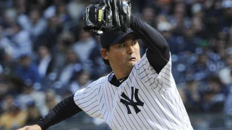 New York Yankees' relief pitcher Chan Ho Park