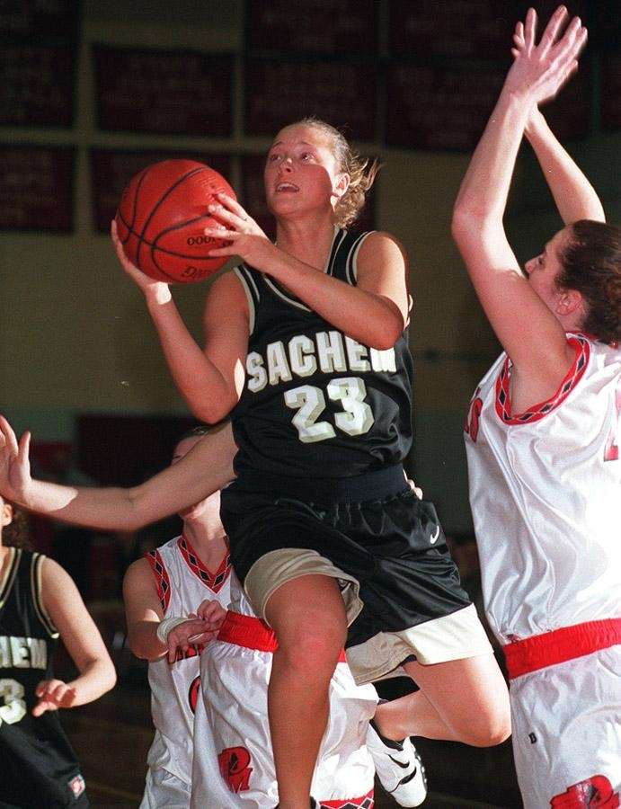 Sachem's Nicole Kaczmarski was the first girls basketball