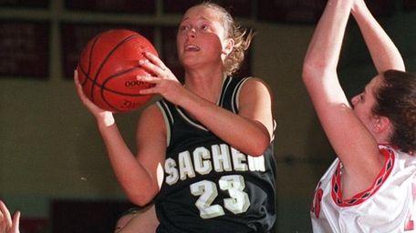 Sachem's Nicole Kaczmarski was the first girls basketball