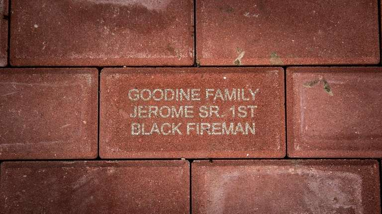 This is the brick Sheryl Goodine, widow of