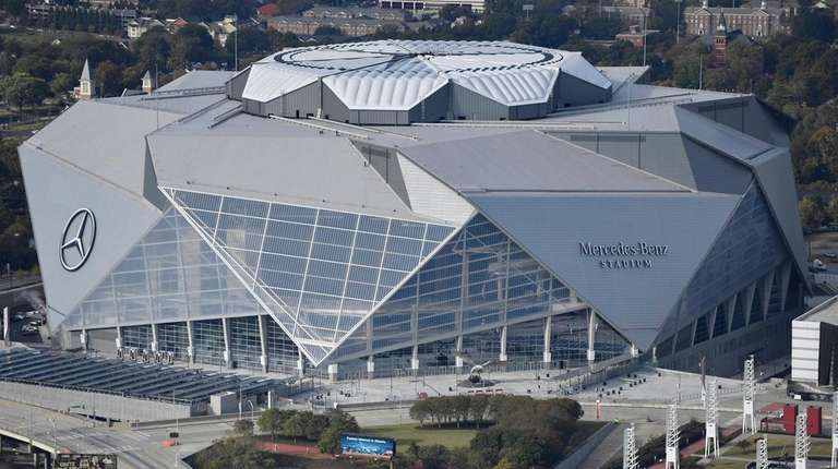 The Mercedes-Benz stadium in Atlanta on Nov. 1,