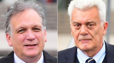 Former Nassau County Executive Edward Mangano, left, and