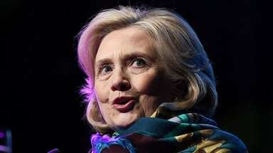 Former Secretary of State Hillary Clinton speaks in