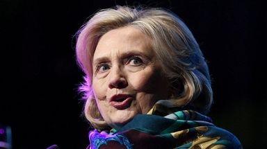 Former Secretary of State Hillary Clinton speaks in