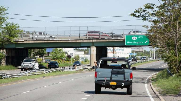 Work has begun to repair the Route 110