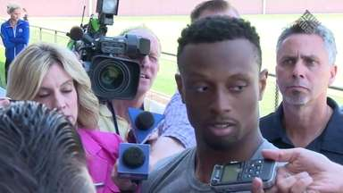 Giants defensive back Eli Apple and new head