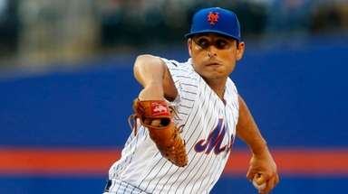 Jason Vargas of the Mets pitches in the