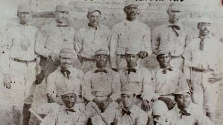 The first all-black professional team, the Cuban Giants