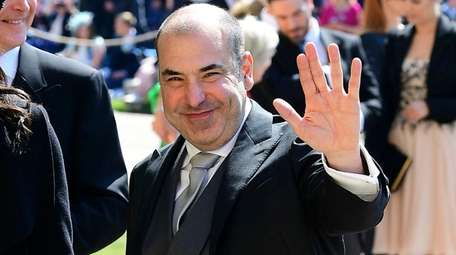 Actor Rick Hoffman arrives for the wedding ceremony