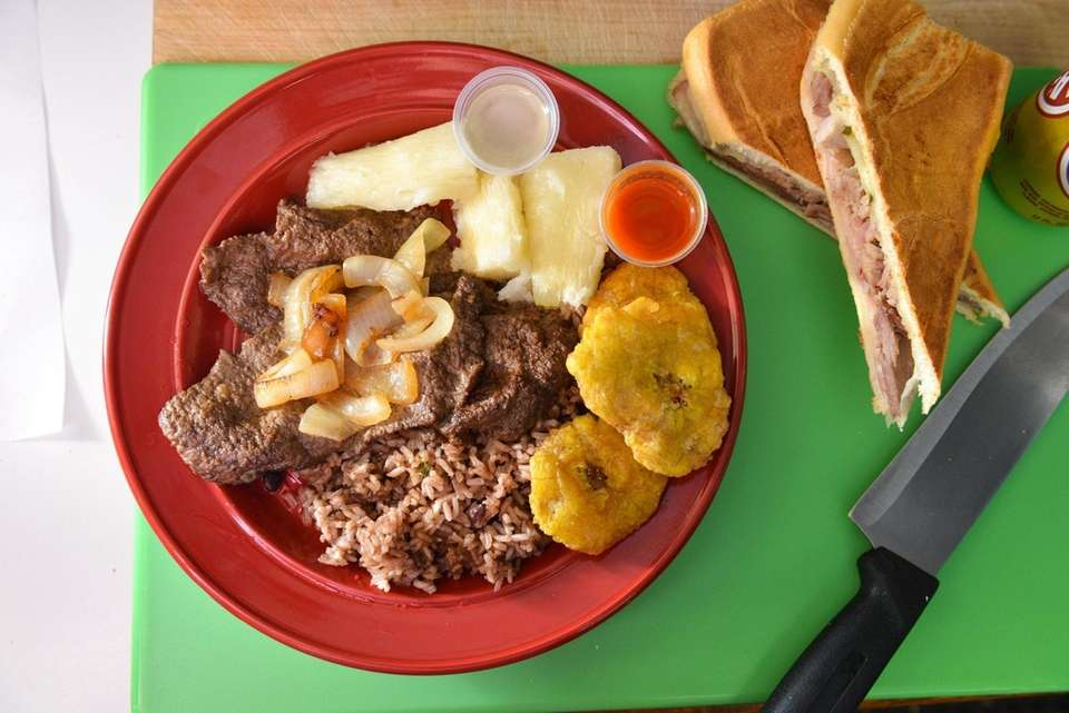 A plate of Cuban specialties at La Cubanita