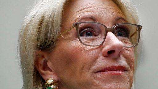 Education Secretary Betsy DeVos testifies at a House