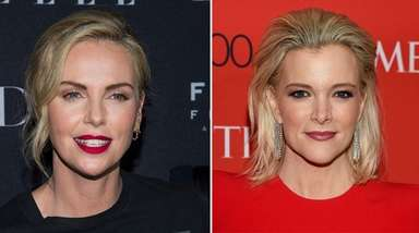Charlize Theron, left, will play Megyn Kelly in