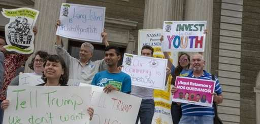 Long Island immigrant and civil rights advocates gather