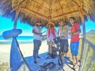 Brian Adamkiewicz and his film crew in Puerto