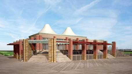 An artist's rendering shows the upgraded Boardwalk Cafe