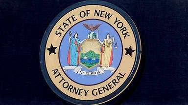 The New York State attorney general seal.