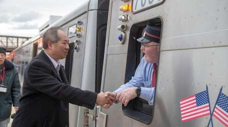 LIRR President Phil Eng meets with commuters and