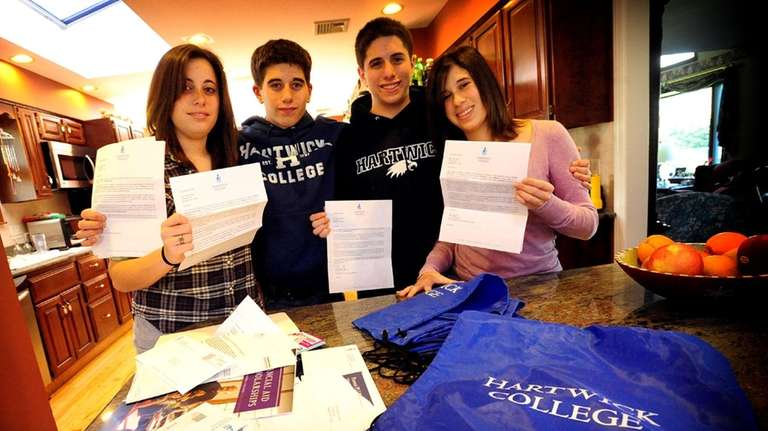 Seventeen-year-old quadruplets, Erin, Danny, Bobby, and Grace Mele,