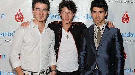 Singers Kevin Jonas, Nick Jonas and Joe Jonas