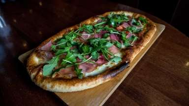 The Prosciutto di Parma pizza leads City Cellar's