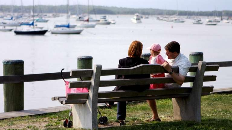 Enjoy the view of Cow Harbor from Northport