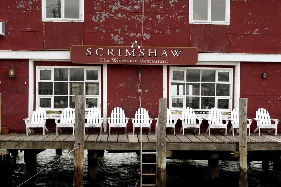 Scrimshaw Restaurant is located on the waterfront in