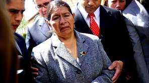 Rosario Lucero visits the site where her son