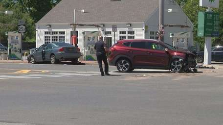 Police said two vehicles crashed on Route 25A