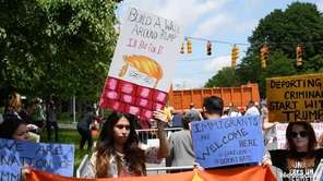 Supporters and protesters alike gathered Wednesday outside Morrelly