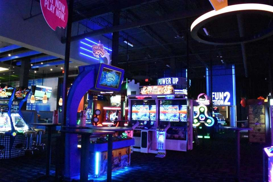 The arcade at Dave and Buster's in Massapequa.