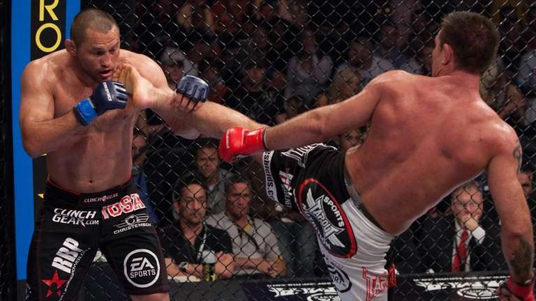 Jake Shields, right, won a unanimous decision over