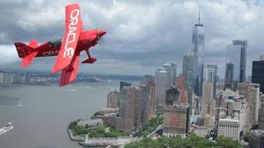 Sean D. Tucker, a legendary aerobatic stunt pilot,