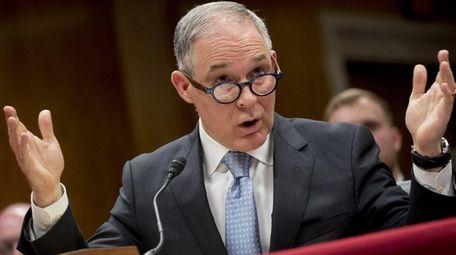 EPA Administrator Scott Pruitt, seen here on May