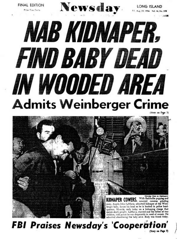 1956 -- NASSAU -- The Weinberger kidnapping NEWSDAY'S