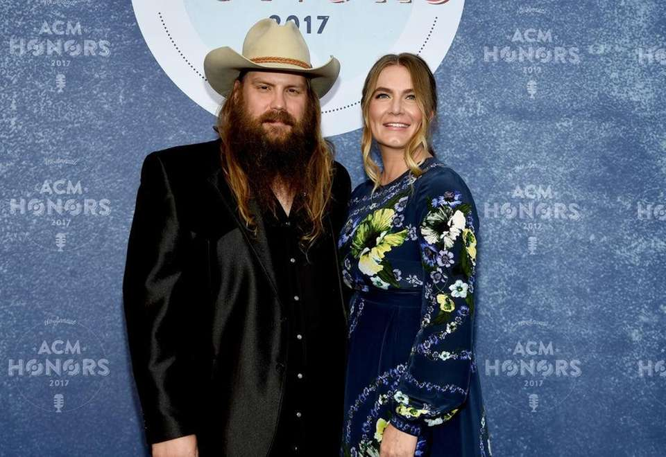 Country music star Chris Stapleton and his wife