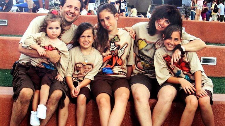The DiMartino family (Left-Right): Ava, 4, James DiMartino,