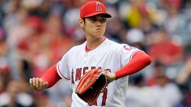 Angels starting pitcher Shohei Ohtani against the Tampa