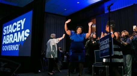Georgia Democratic Gubernatorial candidate Stacey Abrams takes the